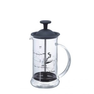 Schmaler French Press Kaffeezubereiter Schwarz
